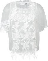 Tsumori Chisato sheer embroidered top - women - Nylon - 2