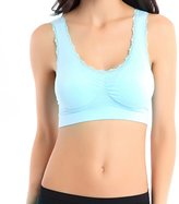 shantan Women Stretch Workout Tank Top Seamless Racerback Fitness Yoga Padded Sports Bra