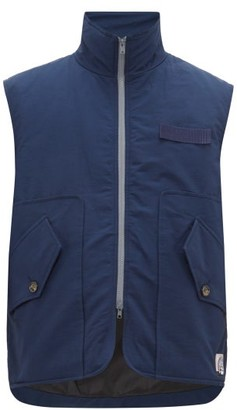 Boramy Viguier - Grosgrain-trim Cotton-twill Gilet - Mens - Navy