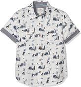Fat Face Boy's Surf Print Shirt