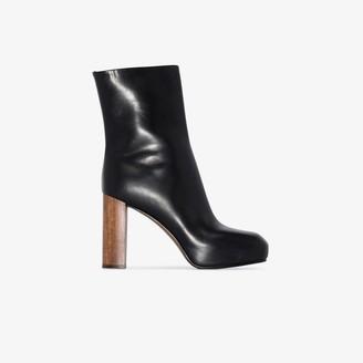 Neous Black Sarin 80 leather platform boots