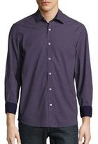 Report Collection Regular-Fit Dot-Print Cotton Sportshirt