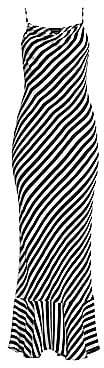 Saloni Women's Stella Striped Ruffle-Hem Maxi Dress
