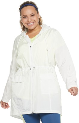 Tek Gear Plus Size Long Woven Anorak Jacket