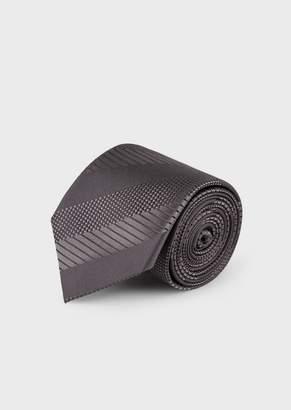 Giorgio Armani Silk Tie With Regimental Pattern