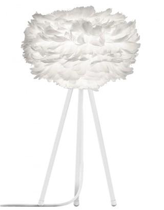 EOS Umage UMAGE - Mini White Feather White Tripod Table Lamp - White