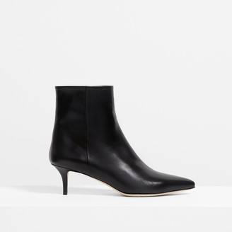 Theory Leather City 55 Bootie