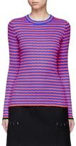 Proenza Schouler Irregular stripe silk-cashmere sweater