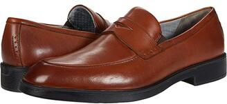 Johnston & Murphy Maddox Penny (Cognac Full Grain Waterproof Leather) Men's Shoes