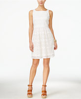 ECI Sleeveless Square-Neck Fit & Flare Dress