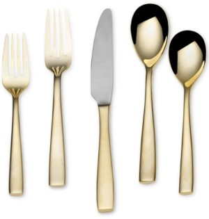 Mikasa Delano Gold-Plated 20-Piece Flatware Set, Service for 4