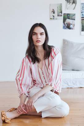 Velvet by Graham & Spencer Velvet By Graham Spencer Whitley Ombre Stripe Button-Up Blouse