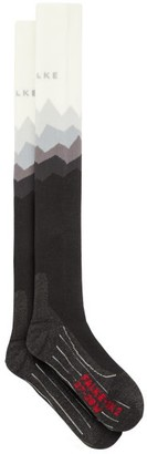 Falke Sk2 Crest Padded Knee-high Ski Socks - White Multi