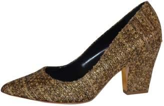 Rupert Sanderson Gold Tweed Heels