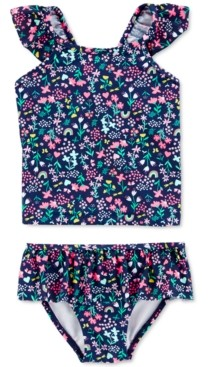 Carter's Baby Girls 2-Pc. Floral-Print Tankini Swim Suit