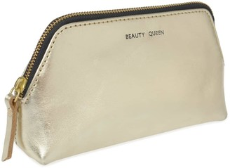 Vida Vida Solar Gold Leather Make-Up Bag