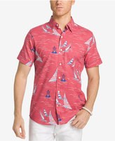 Izod Men's Sailboat Print Cotton Shirt