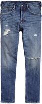 H&M Tapered Low Trashed Jeans - Denim blue - Men