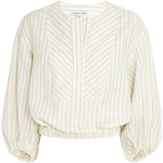 Shona Joy Kennedy Linen Balloon Sleeve Blouse