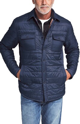 Faherty Atmosphere Packable Quilted Shirt Jacket
