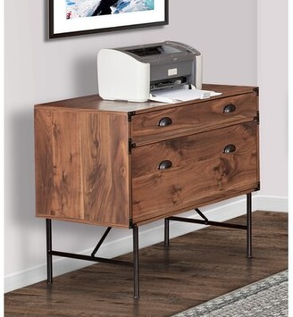 Bruening 3 Drawer Lateral Filing Cabinet Union Rustic