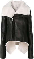 Rick Owens Naska biker shearling jacket - women - Calf Leather/Polyester/Cupro/Lamb Fur - 42