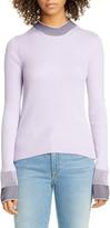 Maison Margiela Contrast Rib Cotton Blend Sweater