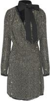 Rachel Zoe Elsie embellished silk-chiffon mini dress