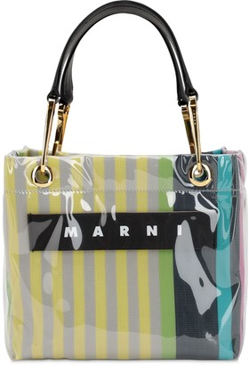 Marni GLOSSY GRIP SMALL SQUARE TOTE BAG