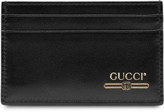 Gucci Leather card case with logo