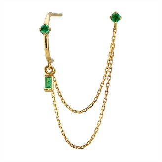 Irena Chmura Jewellery Elfin Emerald Double Earring