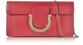 Salvatore Ferragamo Gancio Pamplona Leather Clutch