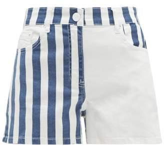 Solid & Striped Striped Denim Shorts - Womens - White Multi