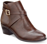 Karen Scott Flynne Block-Heel Booties, Only at Macy's