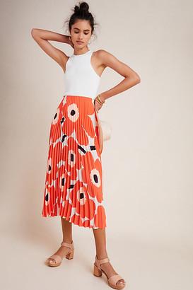 Marimekko Viserrys Pleated Midi Skirt By in Assorted Size XL