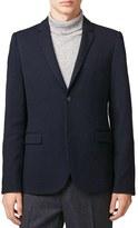 Topman Skinny Fit Piqué Jersey Blazer
