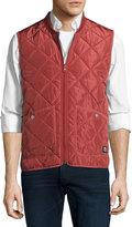 Wesc Rad Quilted Zip-Front Vest, Red