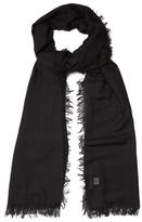 Lanvin Frayed-edge Cashmere-blend Scarf