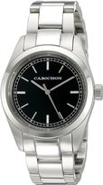 Cabochon Women's 502 De Ce Monde Analog Display Swiss Quartz Silver Watch