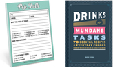 Knock Knock Drinks for Mundane Tasks Book & 'Pep Talk' Nifty Notepad