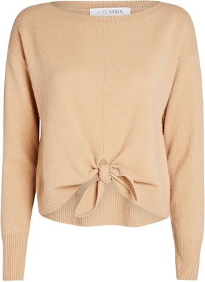 Intermix Logan Cashmere Tie-Front Sweater