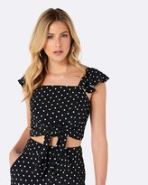 Forever New Holly Wrap Tie Top