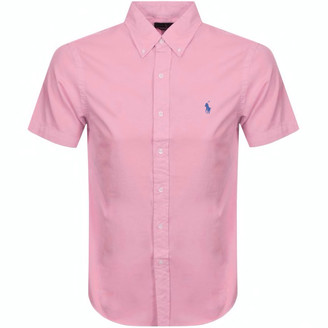 Ralph Lauren Slim Fit Short Sleeve Shirt Pink