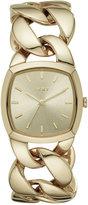 DKNY Women's Chanin Gold-Tone Stainless Steel Chain Bracelet Watch 32mm NY2567