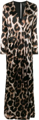 Philipp Plein Long Animal Print Dress