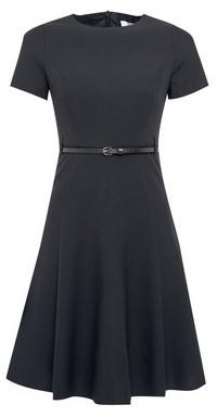 Dorothy Perkins Womens Dp Petite Black Short Sleeve Fit And Flare Dress, Black