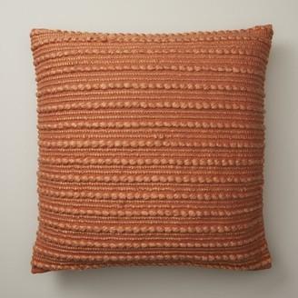 "Indigo Textured Stripes Sunset Pillow Cover 20"" X 20"""