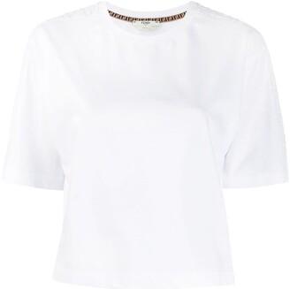 Fendi cropped FF motif T-shirt