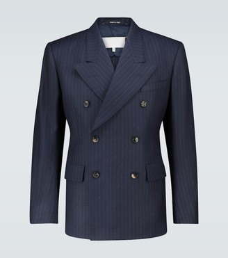 Maison Margiela Pinstriped double-breasted blazer
