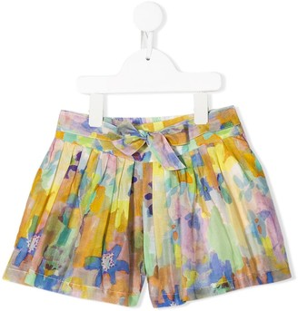 Stella McCartney Kids Abstract Floral Print Shorts